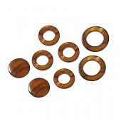 Shelll parts, circle brown, 8 pcs