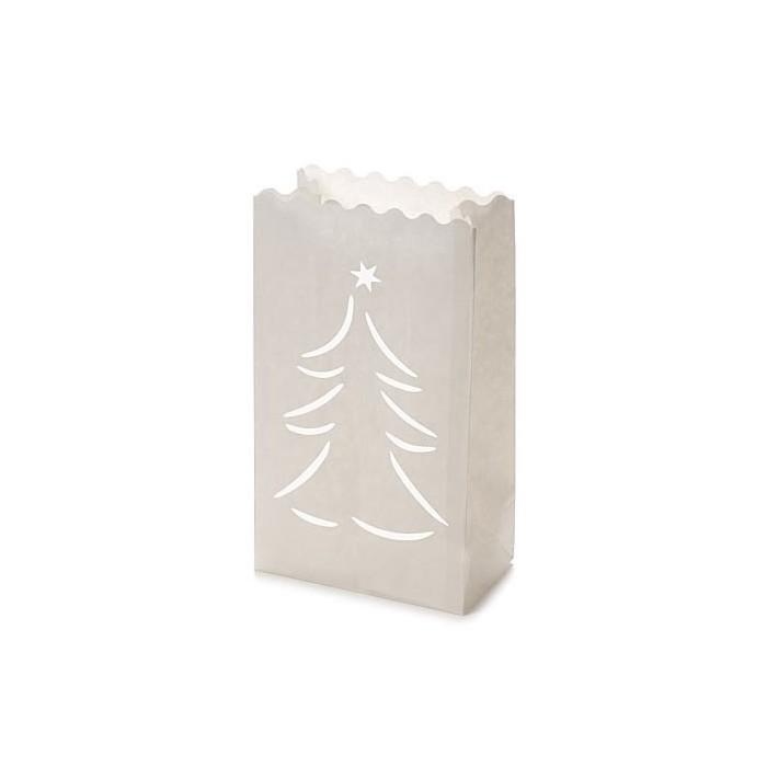 Luminaria Tree Paper lantern 26,5 x 15,5 x 9 cm, 10 pcs