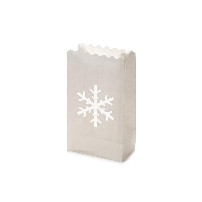 Luminaria Paper lantern Snowflake 26,5 x 15,5 x 9 cm, 10 pcs