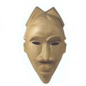 Masque africain en papier mâché 44x25x13cm