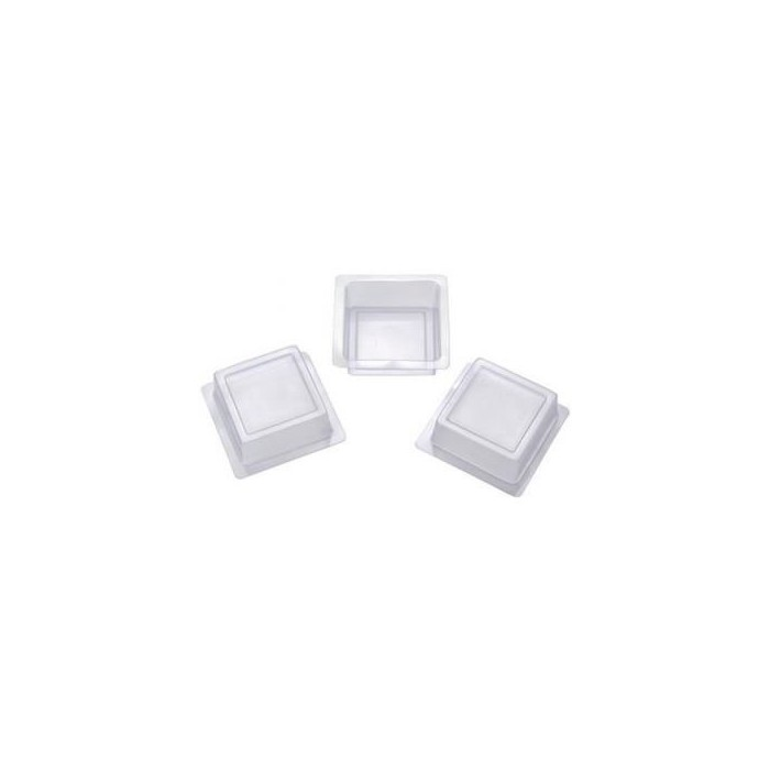 Set of 3 square moulds, 65x65mm