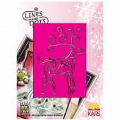 Embossing template reindeer 9x12cm