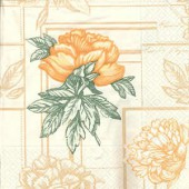 Serviette Sevigné Oranger, 1 pièce