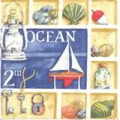 Napkin Ocean, 1 piece
