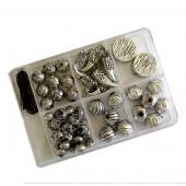 Assortiment perles aspect métal