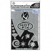 Ki-Sign - Tissu thermocollant pailleté argent