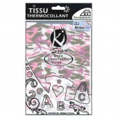Iron-on fabric, army pink/kaki