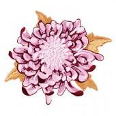 Tilda - Embroidered patch flower Cherry 10cm