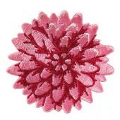 Tilda - Embroidered patch flower Pink 6cm