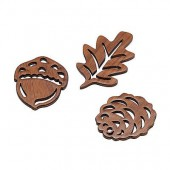 Automn items, 4.5cm, 6 pcs