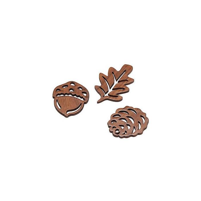 Automn items, 4.5cm, 6 pcs