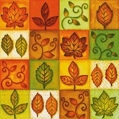 Napkin Different Leaves, 1 piece