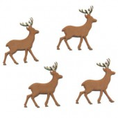 Fabric Deer 52mm, 4 pcs