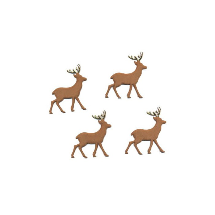 Fabric Deer 52mm, 4 pcs