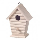 Wooden bird house 15x11cm