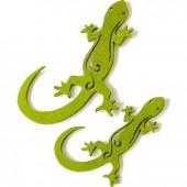 Salamandres en feutre, vert, 8 pces