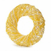 Yellow wreath, Ø25cm