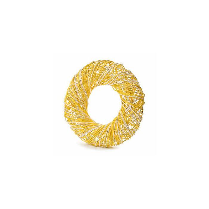 Yellow wreath, Ø25cm