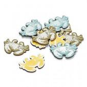 Crabes en bois peint, 4cm, 12 pcs