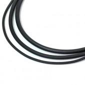 Cordon caoutchouc noir, 2mm/1m