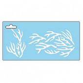 Pochoir corail 15x30cm
