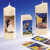 Photo transfer paper for candles
