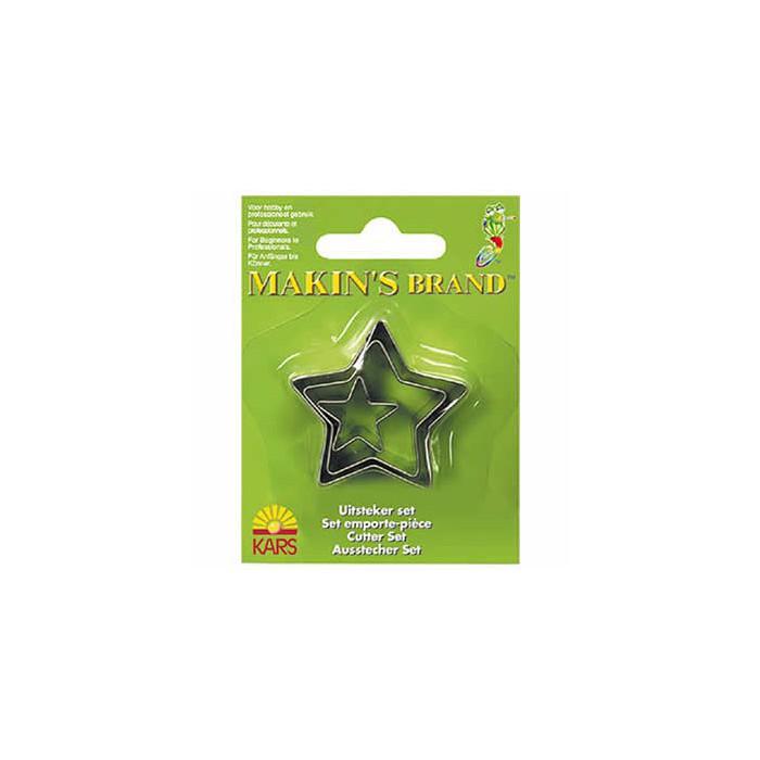 Makin's - Cutter set stars, 3 pcs