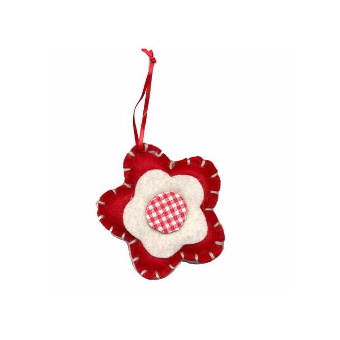 Felt/Fabric Flower 10cm, red