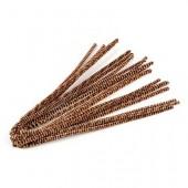 Chenilles (cure-pipe), 10 pièces, brun clair/foncé