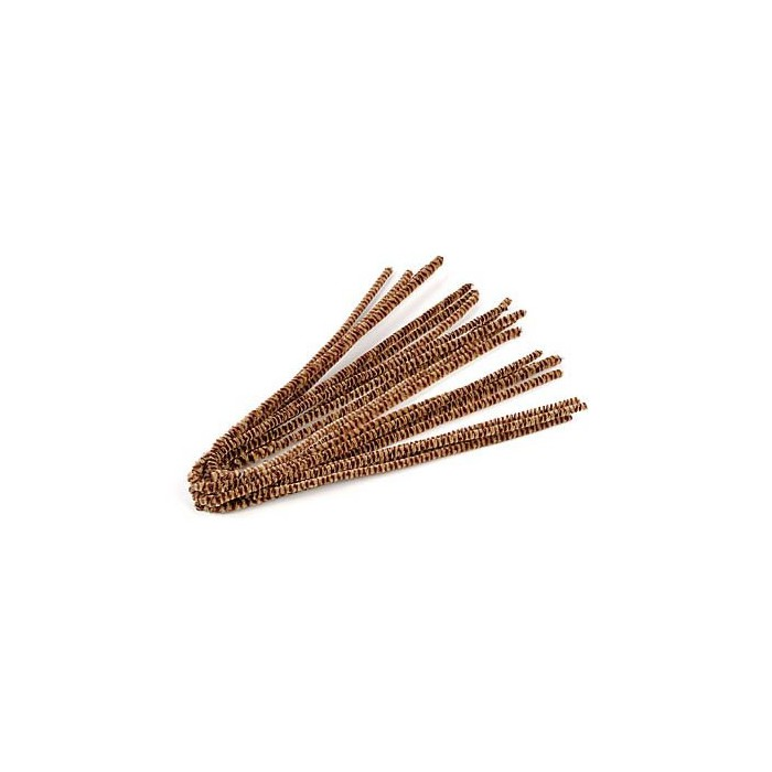 Pipe cleaners, 10 pces, light brown /brown