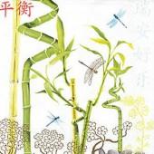 Serviette bambou/libellules, 1 pce