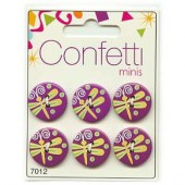 Boutons Confetti Minis - Dragonfly, 6 pcs