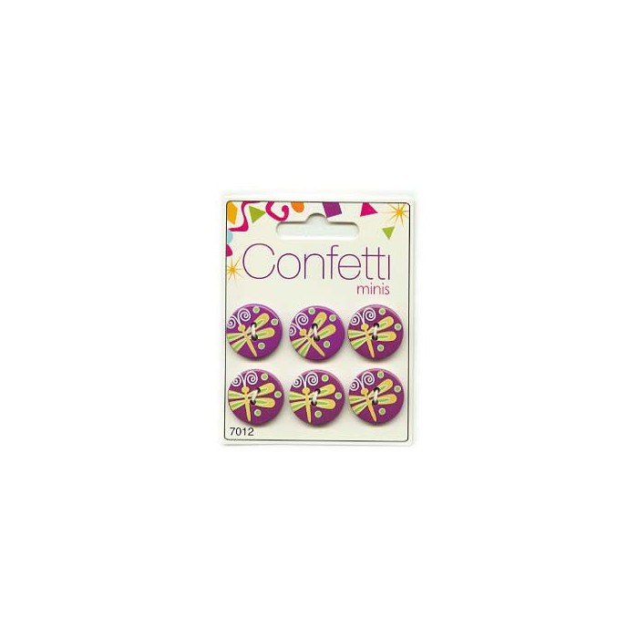 Buttons Confetti Minis - Dragonfly, 6 pcs