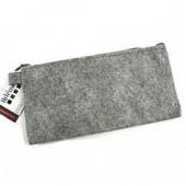 Felt case, 11x22cm, grey