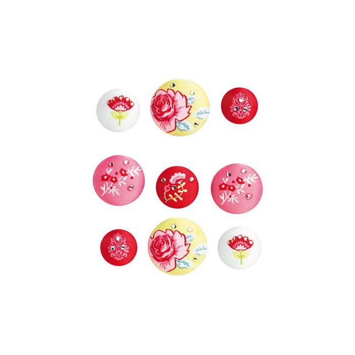 Tilda - Fabric Brads Fruitgarden. 9 pcs