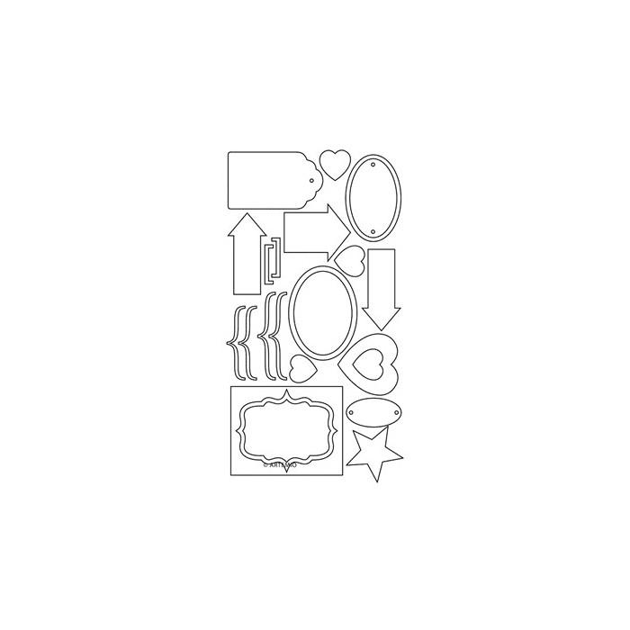 Artemio Chipboard Tags
