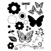 Clear stamps, Butterfly/Flower