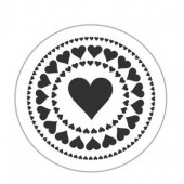 Clear stamp - Heart 4cm