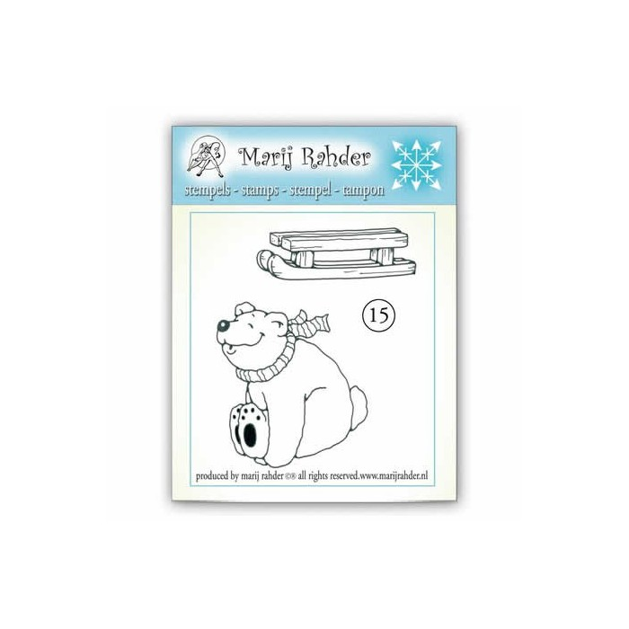 Clear stamp - Polar bear 6x8.5cm