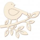 Wooden board Bird 30cm