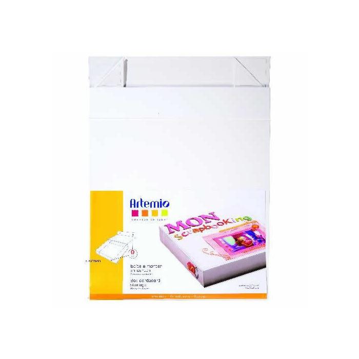 Cardboard storage box, 32x32x6cm