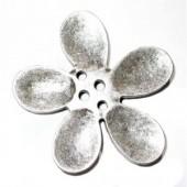Bouton orchidée 30mm, couleur argent