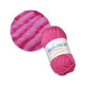 Machine felting wool, pink