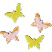 Wooden assorted Butterflies yellow-orange