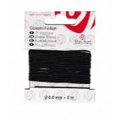 Elastic thread Ø 0.6mm/5m, black