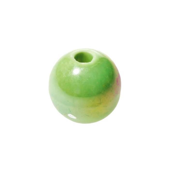 Ceramic bead Ø 16mm, green, 5 pcs