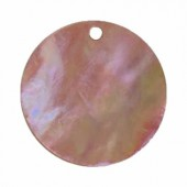 Mother-of-pearl pendants Ø18mm, brown