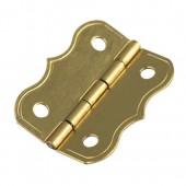 Deco hinges, brassed, 25x20mm