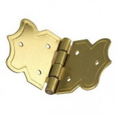 Deco hinges, brassed, 25x37mm