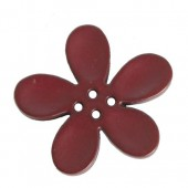 Bouton orchidée 30mm, prune